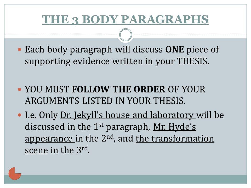how to write a body paragraph for a literary essay
