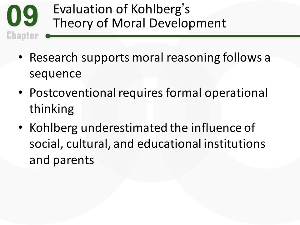 Evaluate two theories piaget and kolhberg