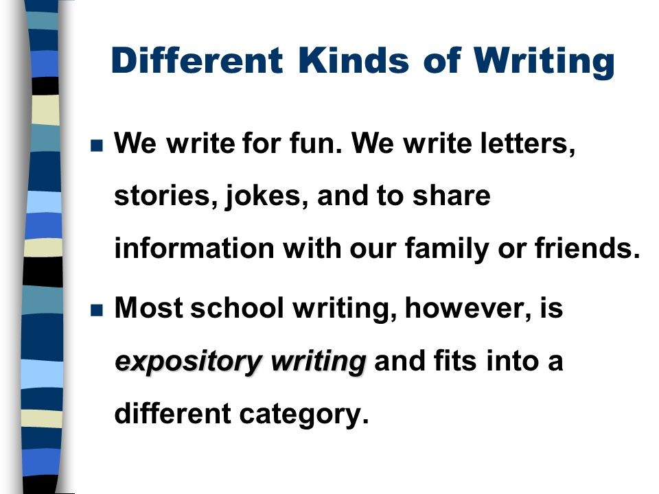 the five paragraph essay ppt video online  the five paragraph essay 2 different kinds of writing