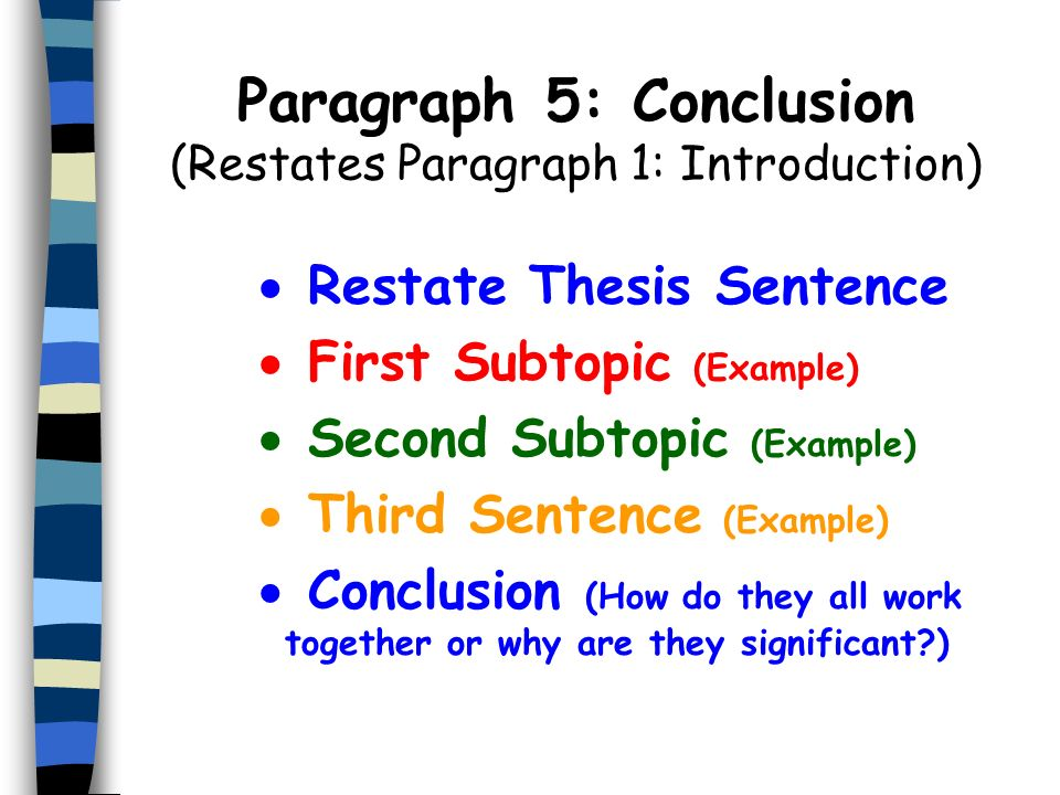 restating thesis What is the meaning of the word restate the thesis need to say what the original question or hypothesis of the thesis is about that is restating the.