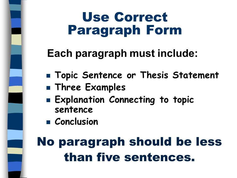 thesis in a sentence 1) a thesis statement is the sentence (or sometimes sentences) that tells the reader what the position of the author is when you are given an essay question, the thesis statement is your clear and concise answer to the question.