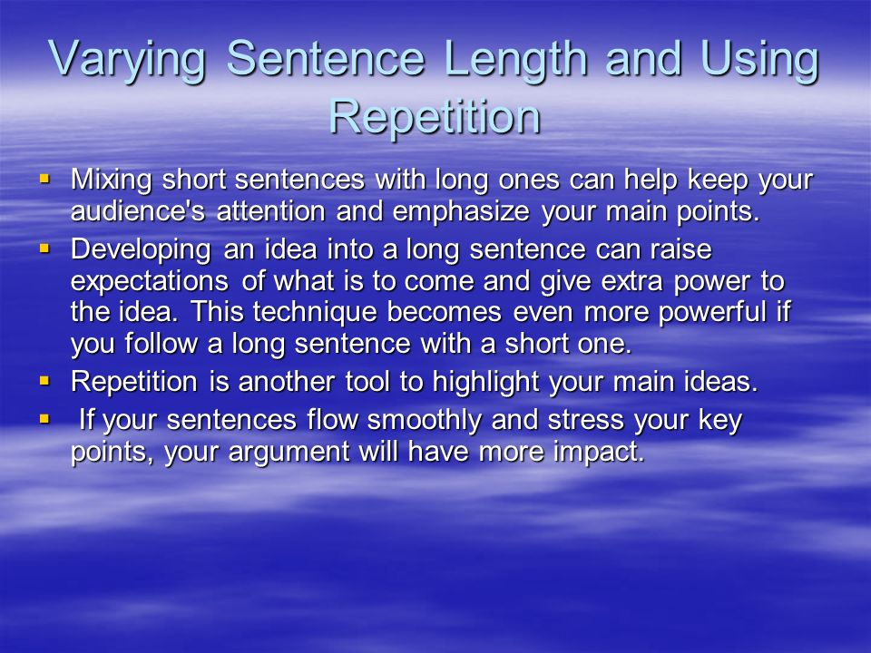 using repetition in an essay