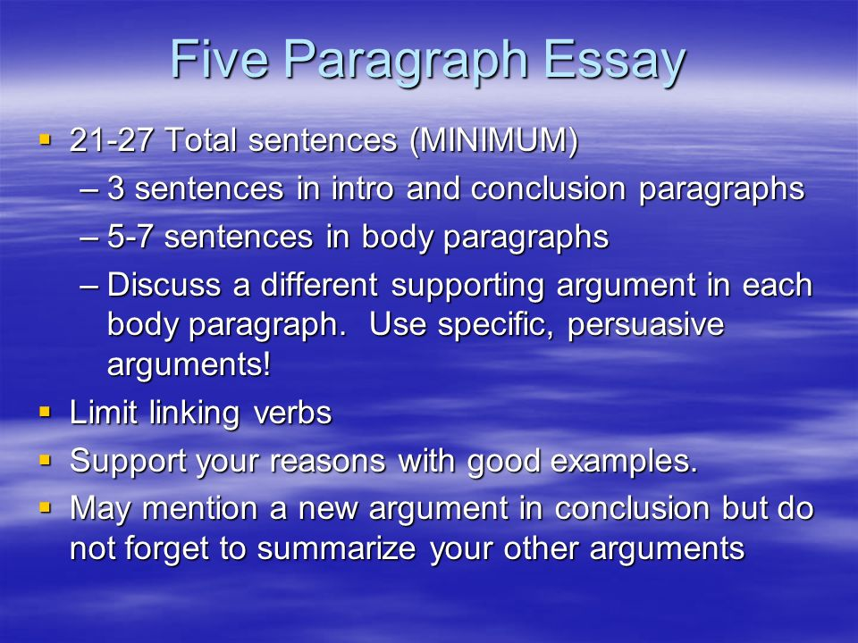 Argument Essay Conclusion