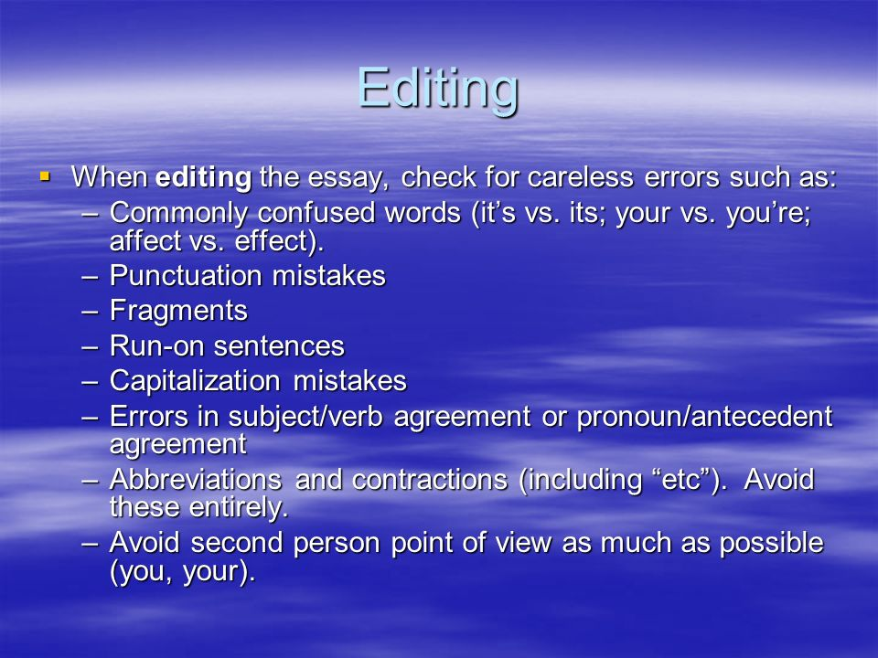 three and five point errors essay Parts of an essay introduction paragraph what is an introduction paragraph  place each supporting point in its own paragraph 3 develop each supporting point with facts, details, and.