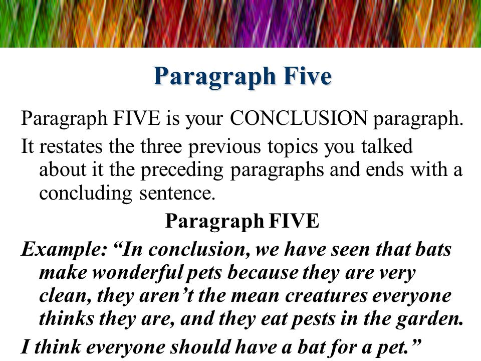 five paragraph essay on how to write a five paragraph essay Are you having trouble writing an essay in 35 format how to write in the format of a 35 essay updated on if your body paragraph is discussing how the.