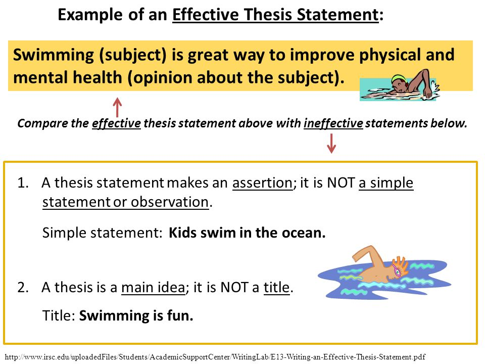an effective thesis statement is