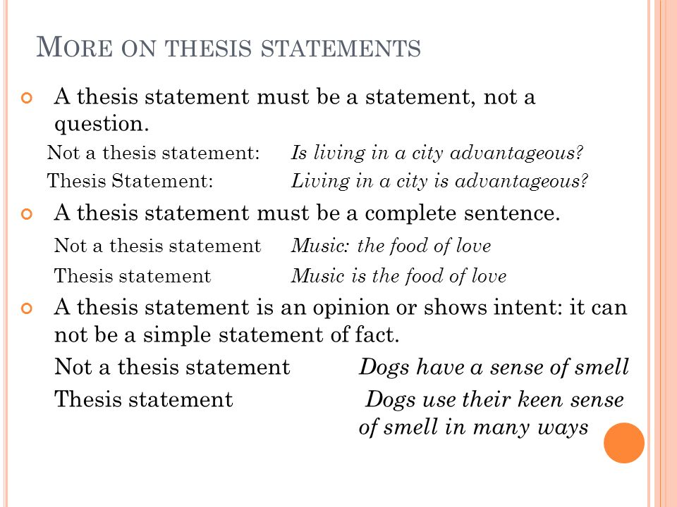 music thesis statement
