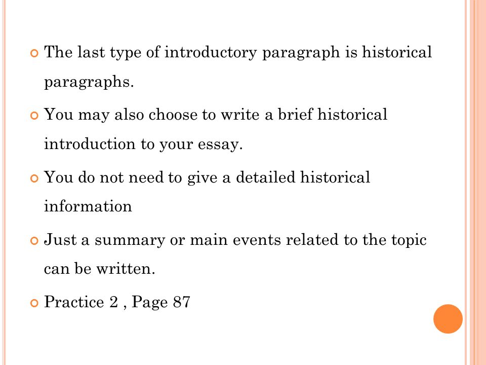 how to write a historical introduction