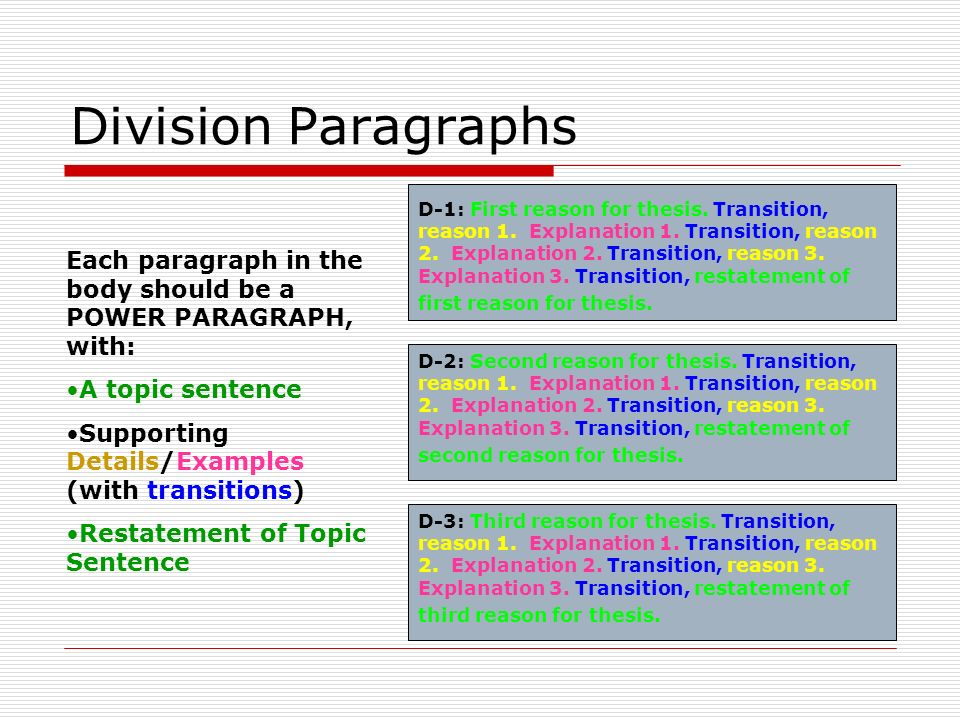 division essay topic A classification and division essay combines two different techniques first, you  would divide a complex and difficult topic into subtopics for clarity and.