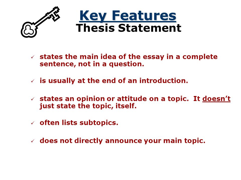 ending thesis statement Strategies for writing a conclusion stress the importance of the thesis statement, give the essay a sense of completeness, and leave a final impression on the reader suggestions answer the question so what show your readers why this paper was important.