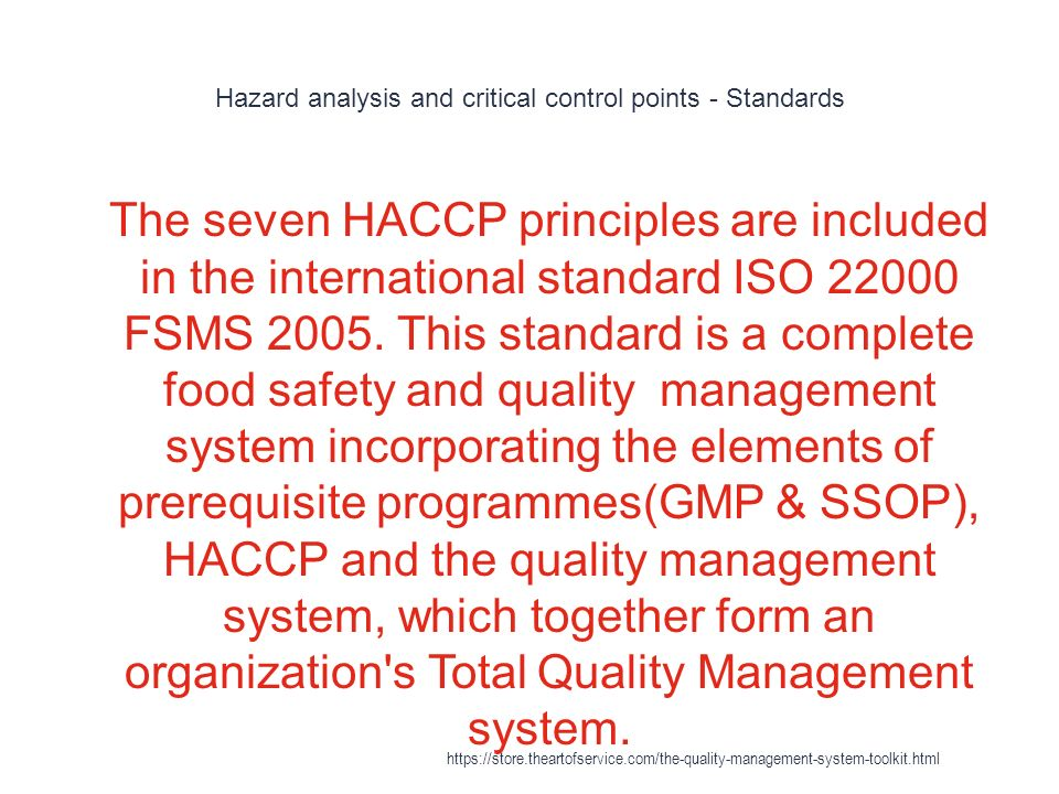 hazard analysis and critical control points essay