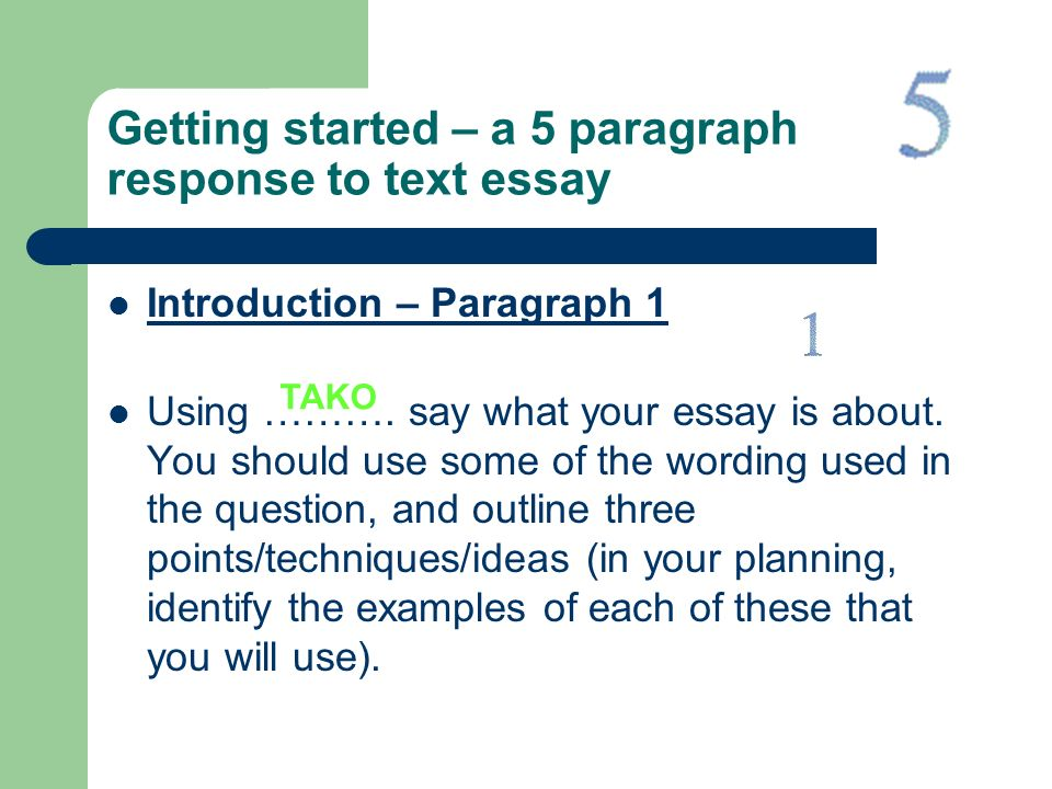 how to write a reading response essay