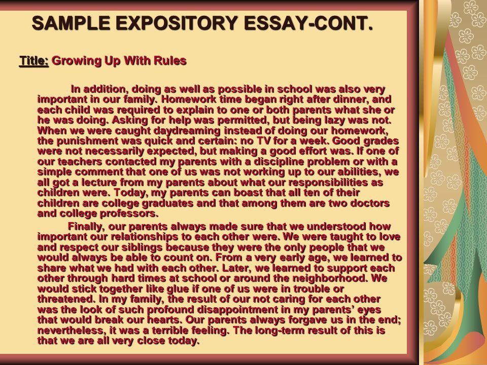 esol and language arts teacher ppt  24 sample expository