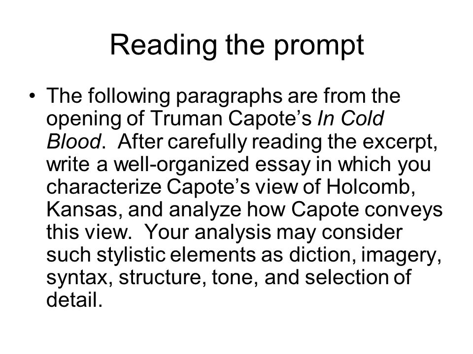 passage analysis essay ppt video online  reading the prompt