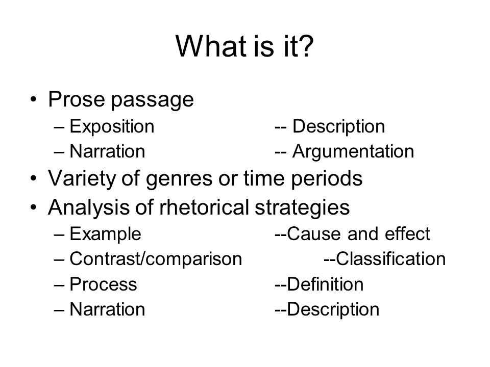 passage analysis essay ppt video online  what is it prose passage variety of genres or time periods