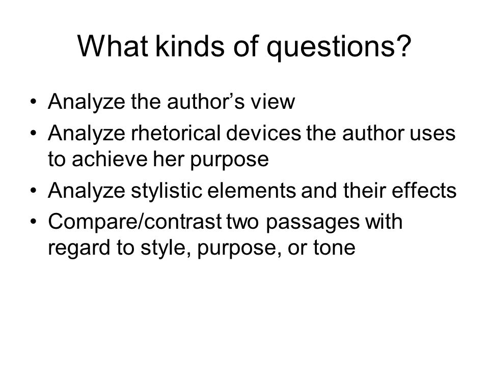 passage analysis essay ppt video online  what kinds of questions