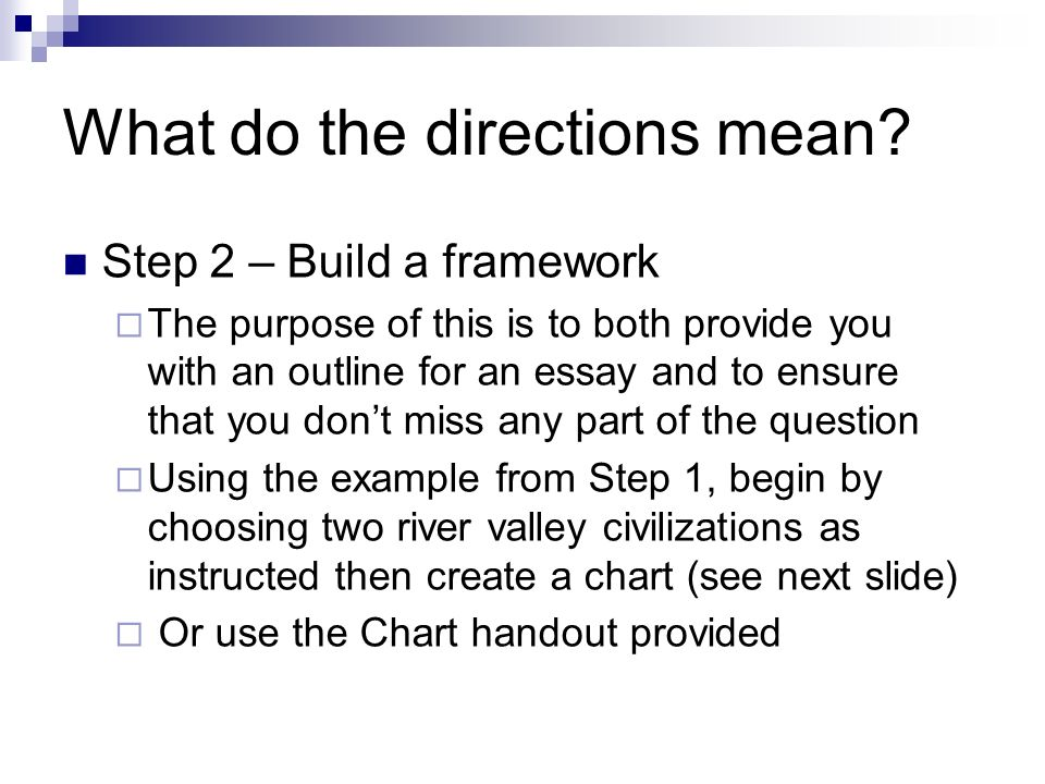 directional essay example