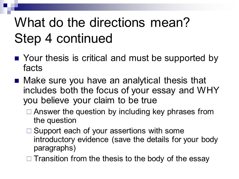in a critical essay the thesis is supported by Each point will have three to five pieces of supporting evidence  ground rules  and tips for asking your professor to critique your paper as you.