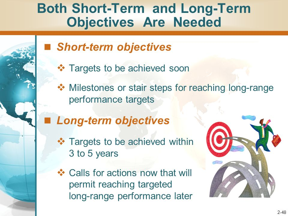 Short Term Objectives : Chapter leading the process of crafting and executing