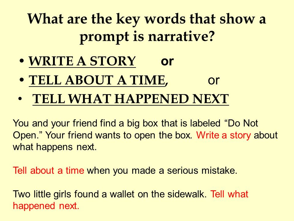 Narrative essay keywords