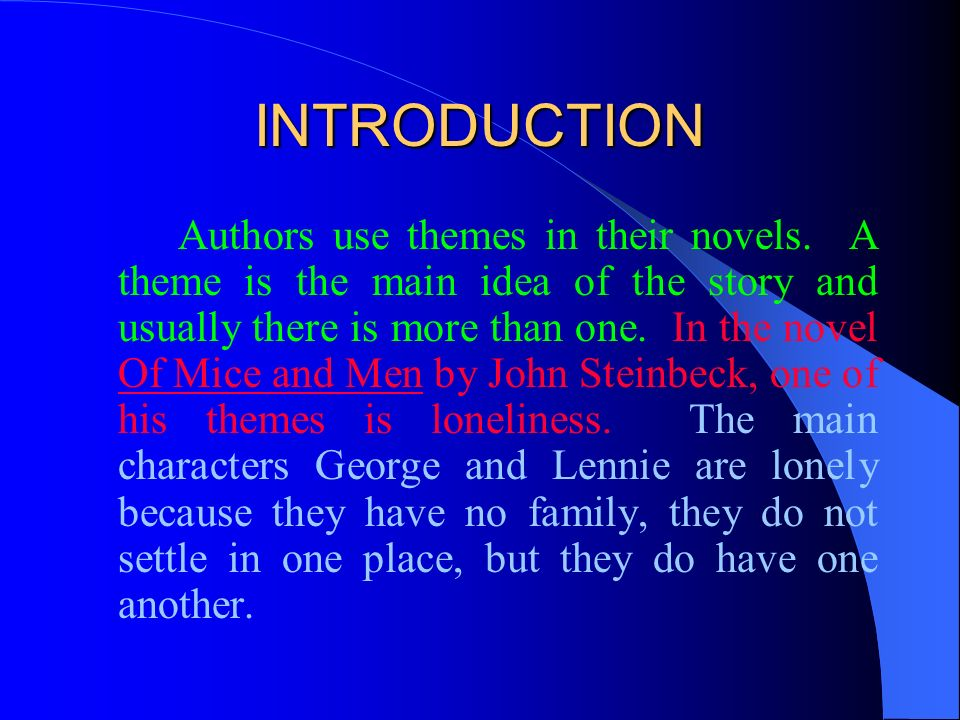 introduction for essay of mice and men