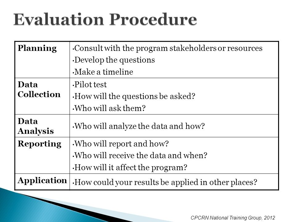 evaluate procedures for working with others Job evaluation and position classification procedures the following information is provided to assist managers with understanding the processes for job evaluation as.