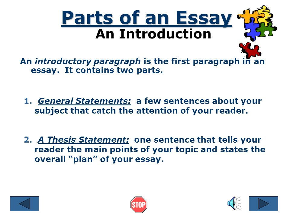 what are the three main parts of an academic essay Three-part thesis  the easiest type of thesis to write is the three-part thesis the standard american-style essay has five paragraphs: 1 introduction, 3 body paragraphs (that present 3 different pieces of evidence), and 1 conclusion.