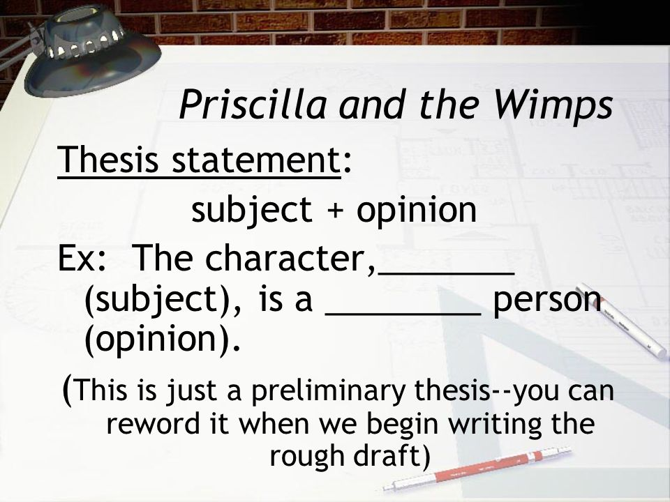 essay on priscilla and the wimps