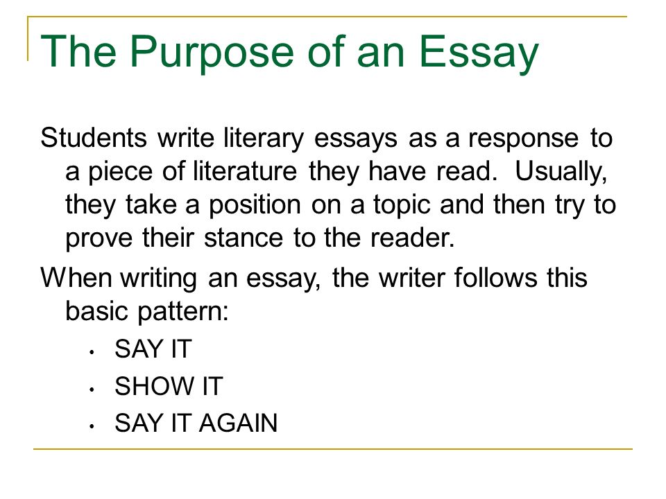 How To Write A Literary Essay - Ppt Download