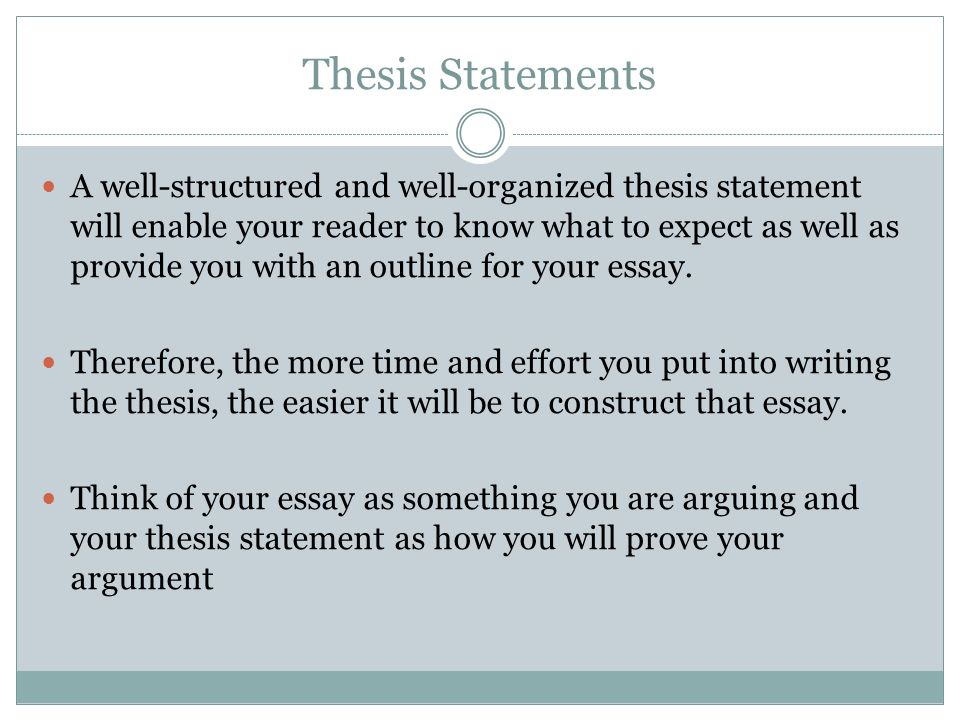 Choosing a thesis topic your