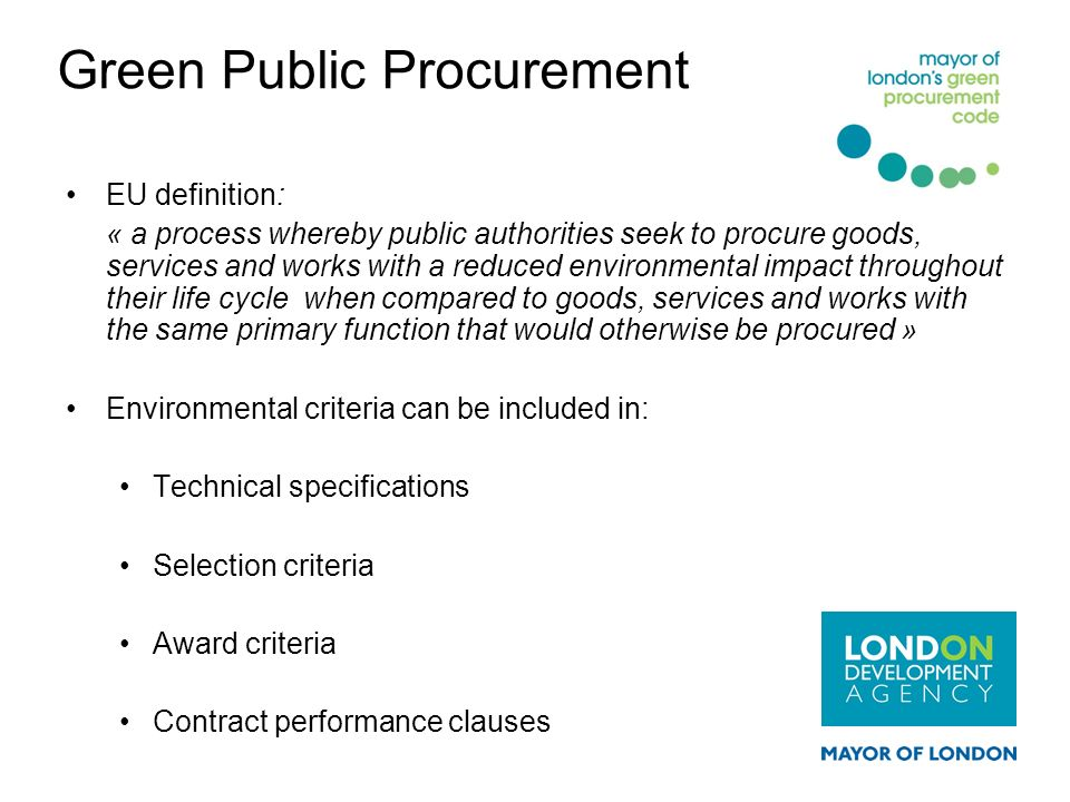 Green Public Procurement