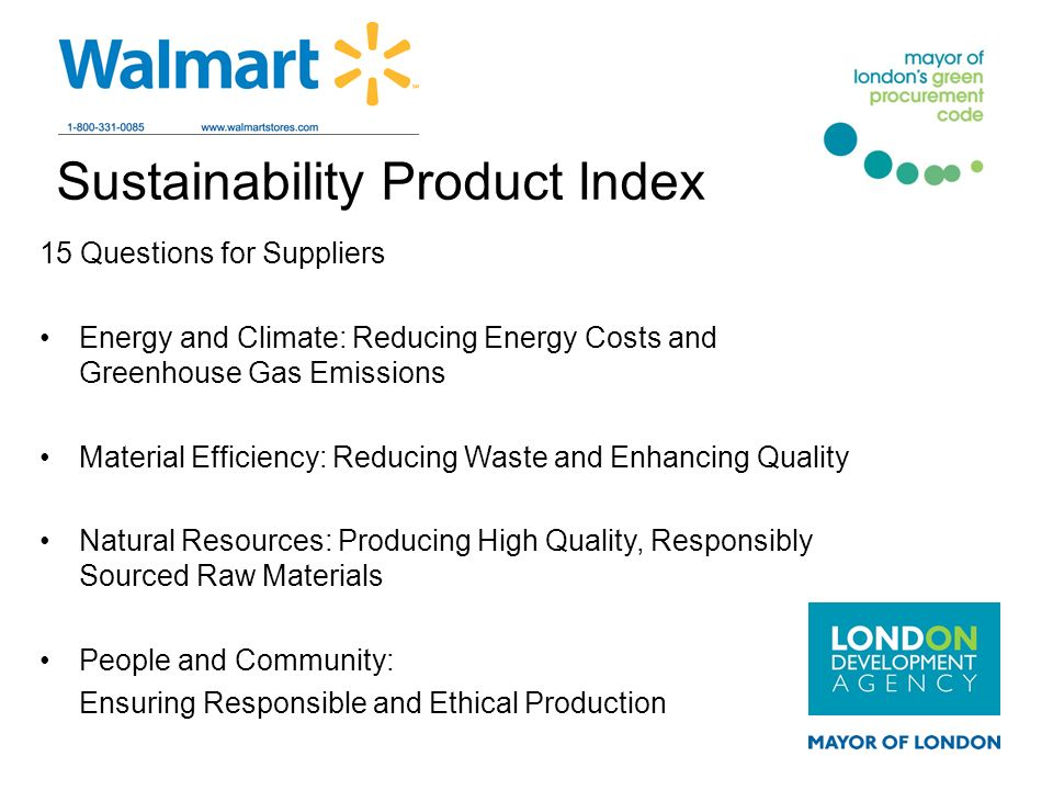 Sustainability Product Index