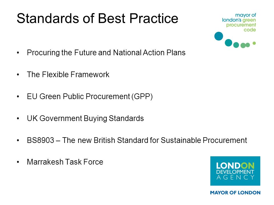 Standards of Best Practice