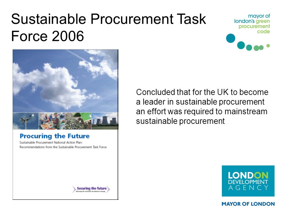 Sustainable Procurement Task Force 2006