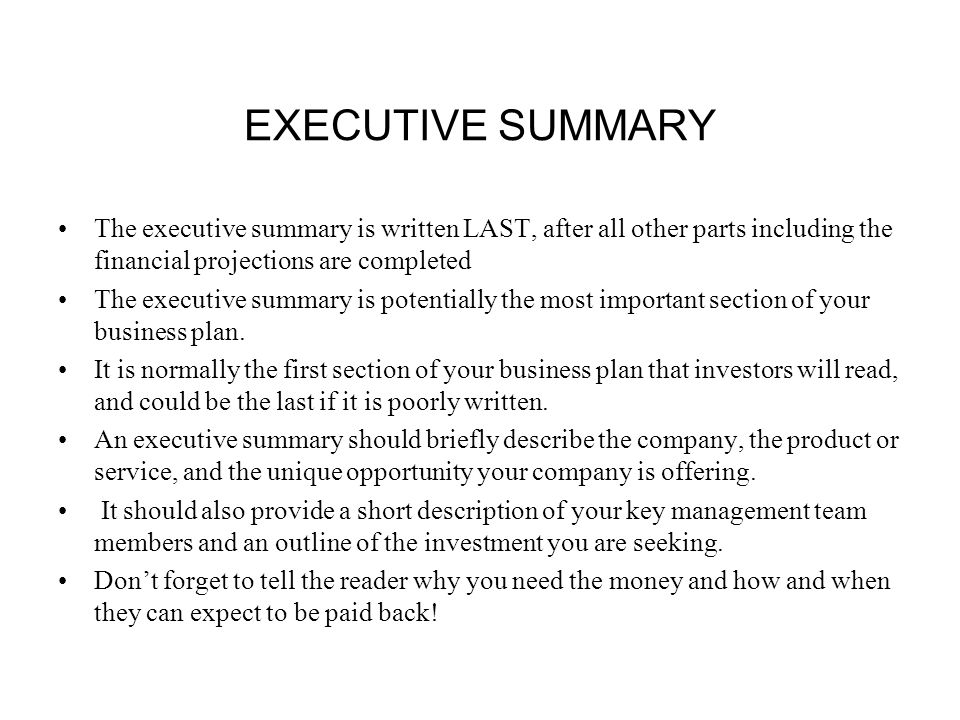 an executive summary of morgan components Mime capstone design, winter 2013 executive summary writing guidelines - p 1 writing the executive summary the executive summary portion of an engineering report is written for high-level decision makers and.