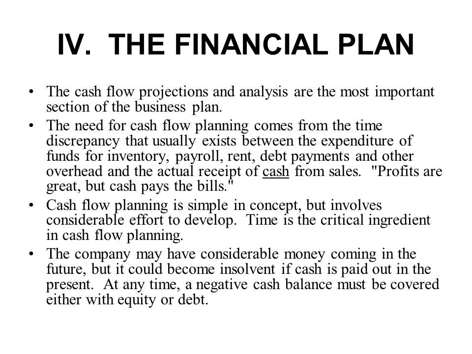Business plan first years cash flow projection and break even analysis