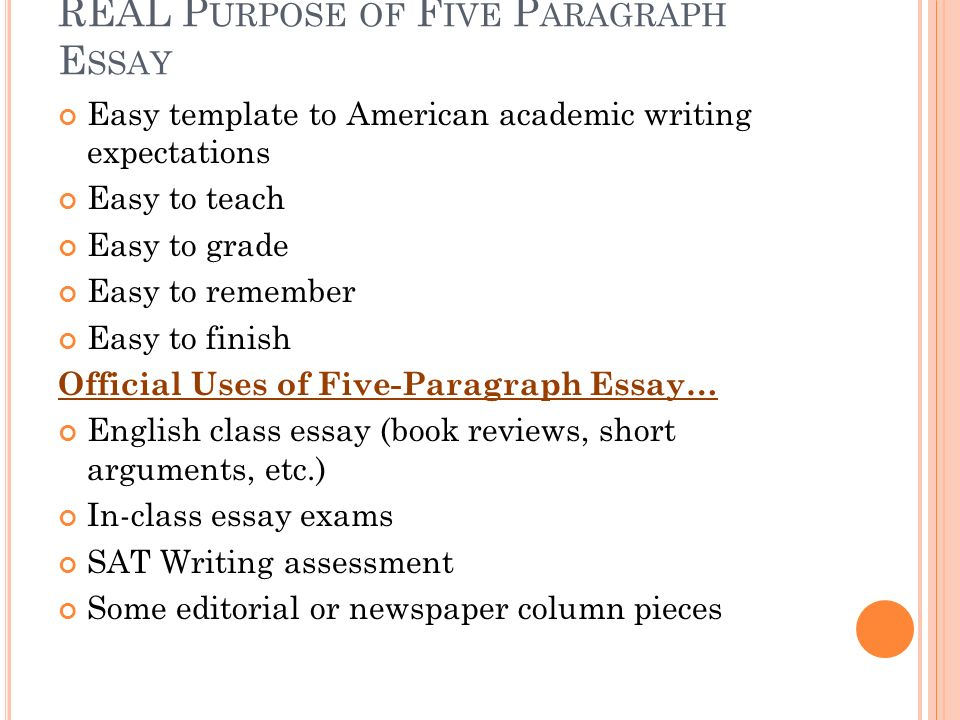 Minute On Page  In The Brief Bedford Reader Look At The  Real Purpose Of Five Paragraph Essay