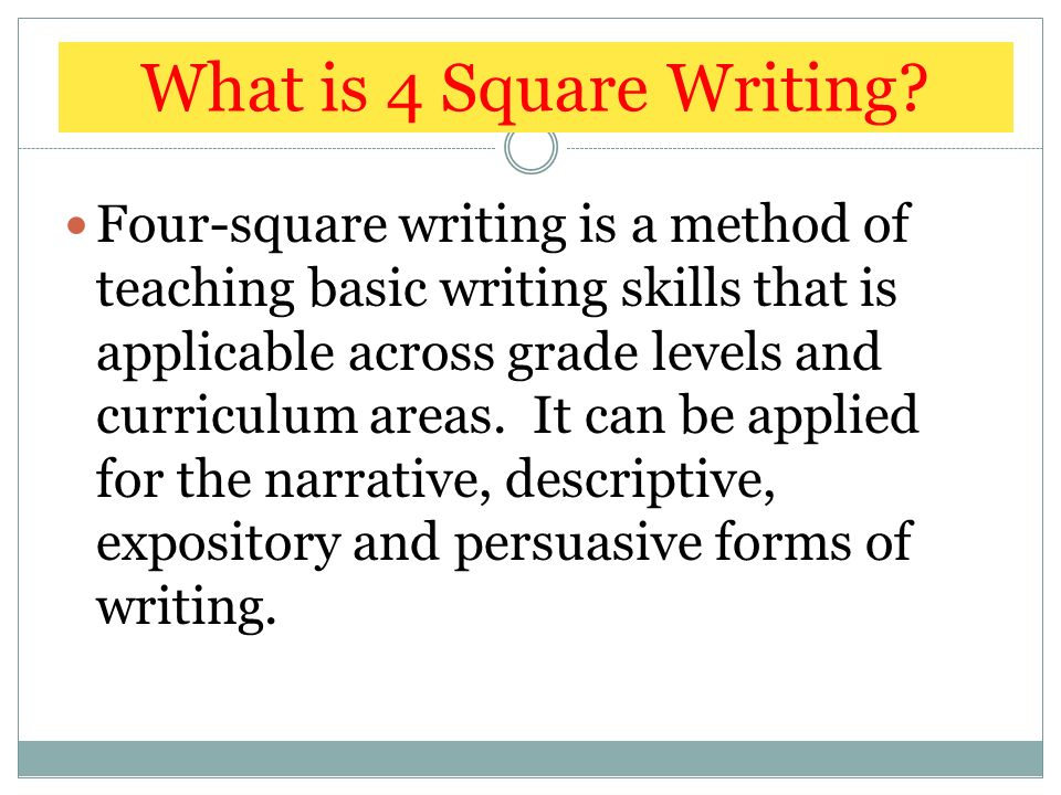 4 square writing 4 square writing approach for slps four for 4 sq
