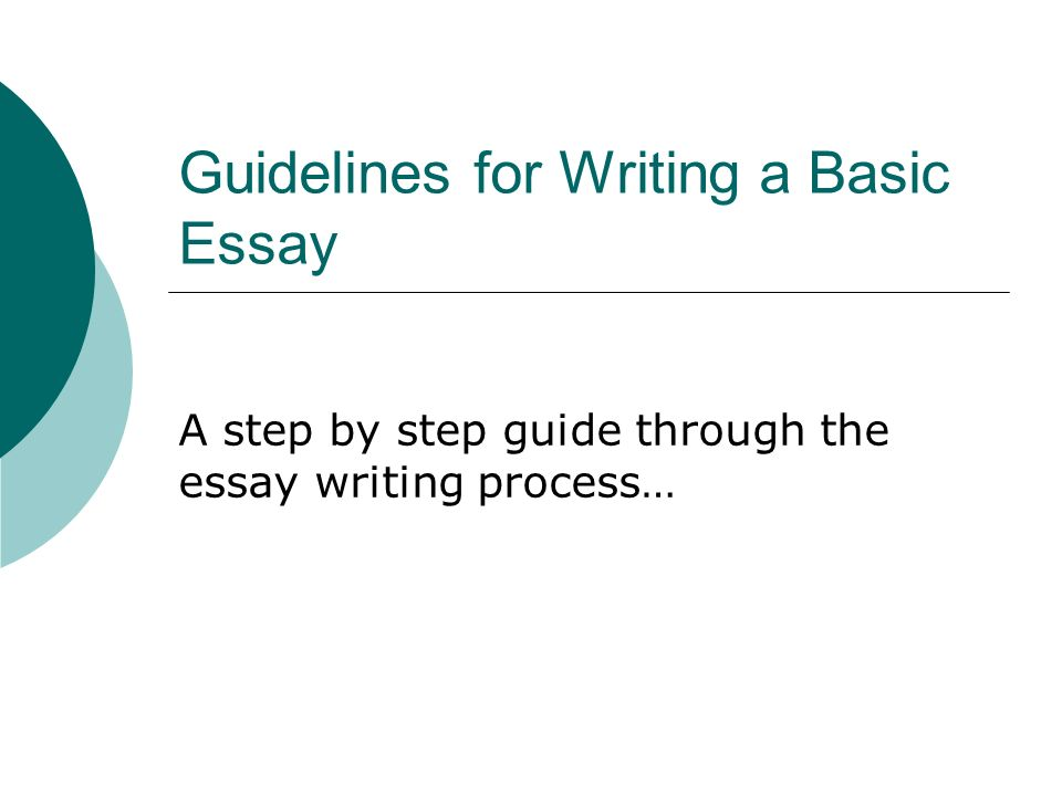 Simple process essay