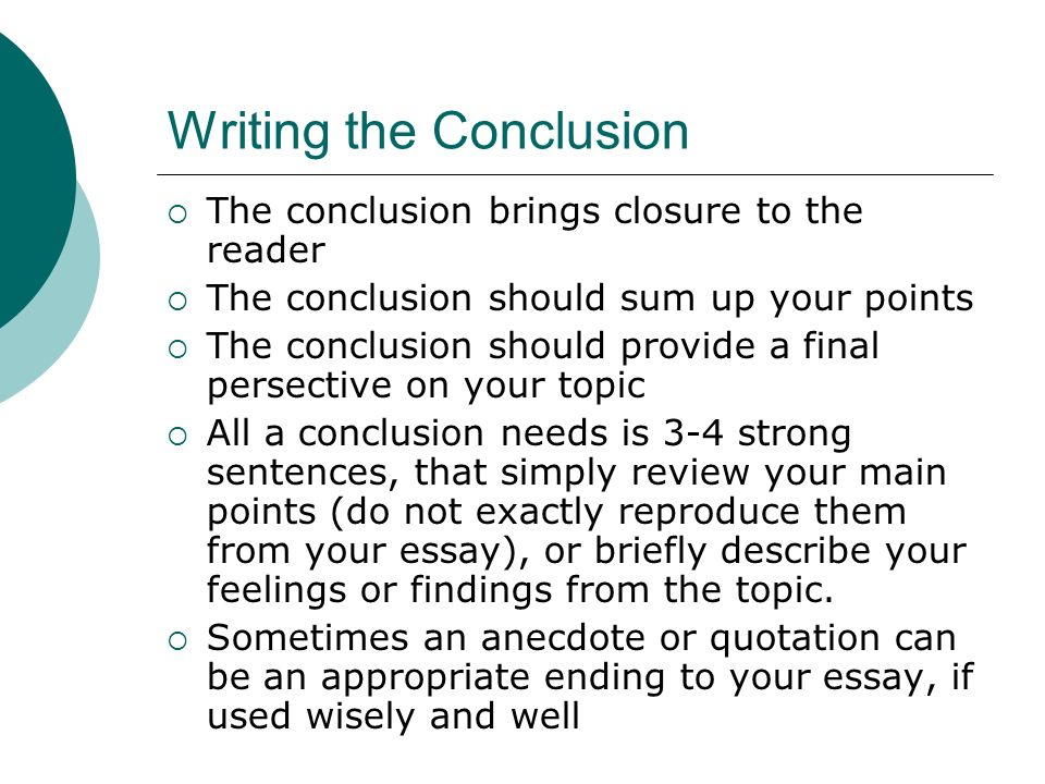 write a thesis conclusion Our website is the solution to your essay writing problems essays online: 100% plagiarism free papers from a trusted write-essay-for-me services provider.