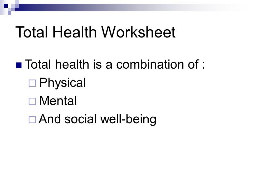 Mental Health Wellness Lesson 2 ppt video online download – Wellness Worksheet