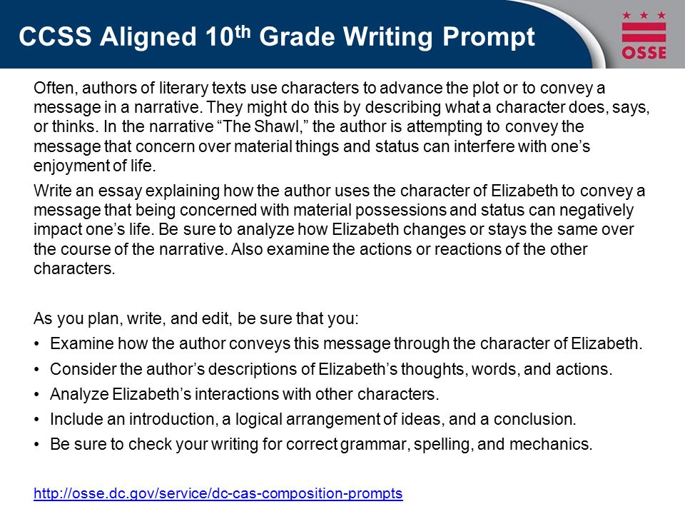 essay prompts for 7th grade Hi 7th graders, you need to write the rough draft of your thesis statement for your tangerine essay tonight remember, a thesis statement = subject + opinion + 3 supporting details (one for each body paragraph.