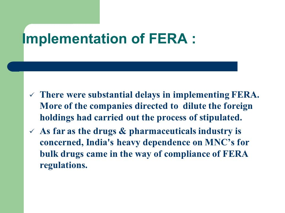Implementation of FERA :