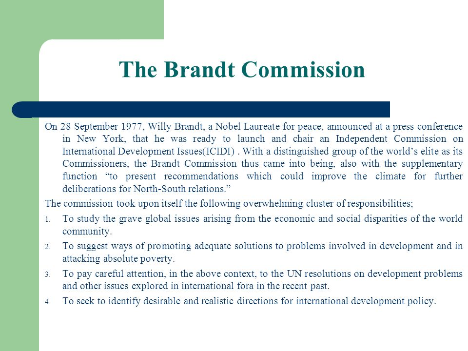 The Brandt Commission
