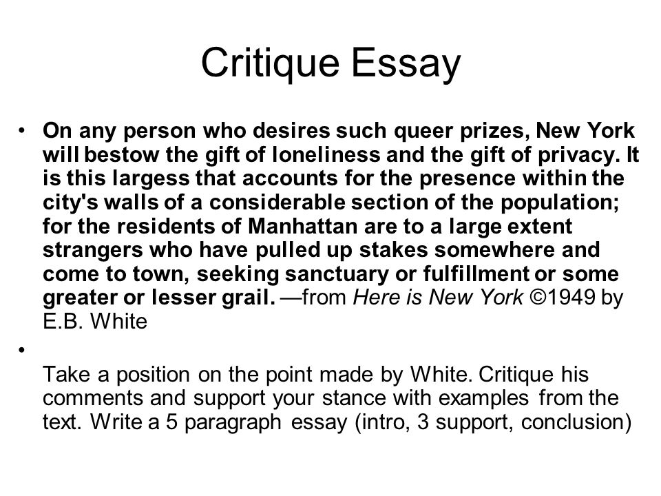 critique final essay Open document below is a free excerpt of final film critique from anti essays, your source for free research papers, essays, and term paper examples.