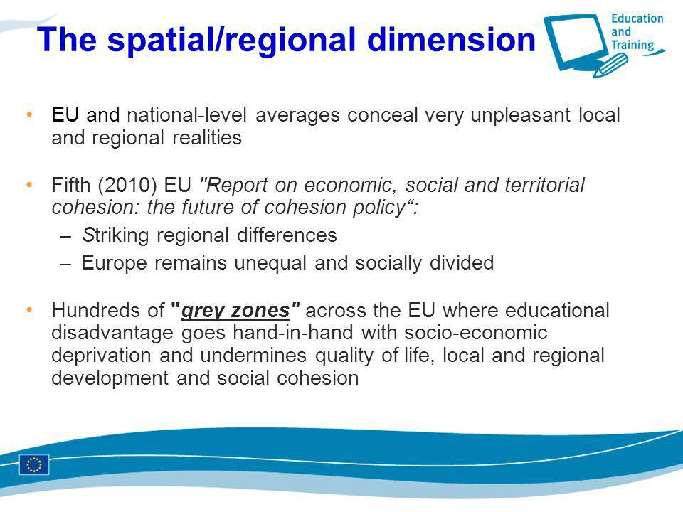 The spatial/regional dimension