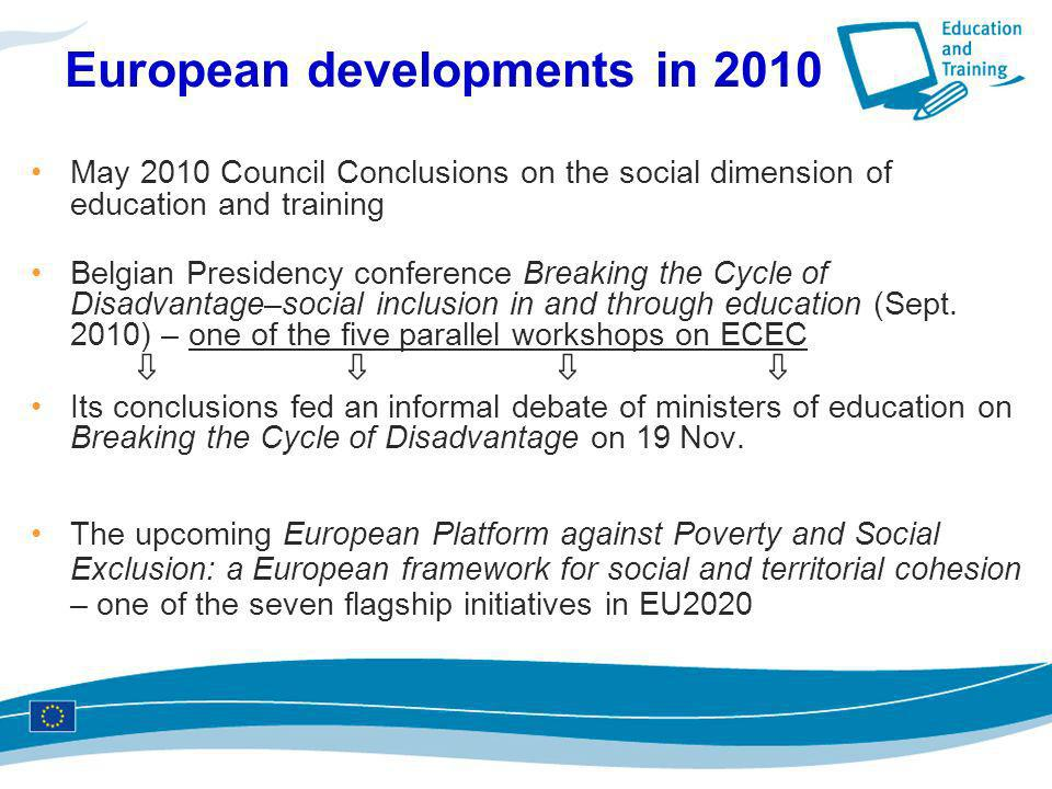 European developments in 2010