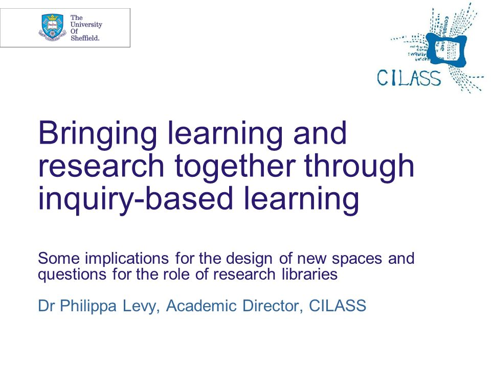 Bringing learning and research together through inquiry-based learning