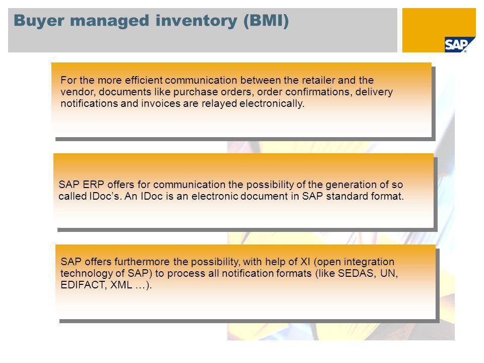 Buyer managed inventory (BMI)