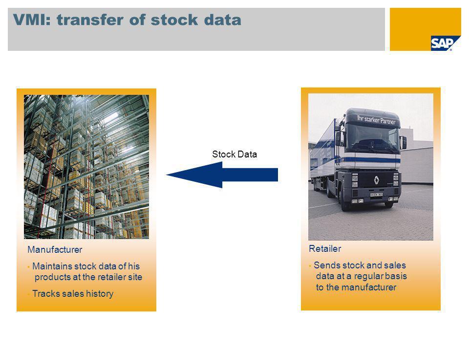 VMI: transfer of stock data
